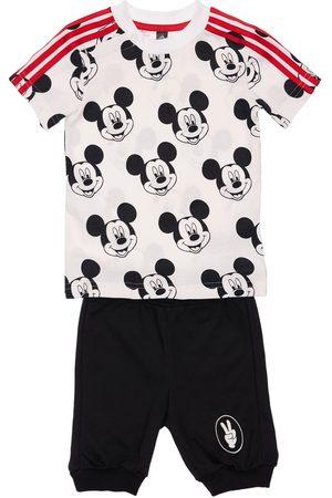 adidas Boys T-shirts - Mickey Mouse Cotton T-shirt & Shorts