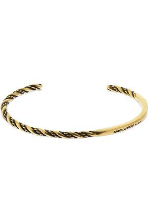 Saint Laurent Men Bracelets - Braided Open Rigid Bracelet