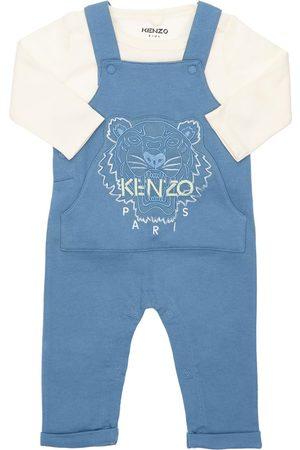 Kenzo Boys Dungarees - Embroidered Organic T-shirt & Overalls