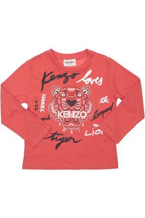 Kenzo Girls T-shirts - Printed Organic Cotton T-shirt