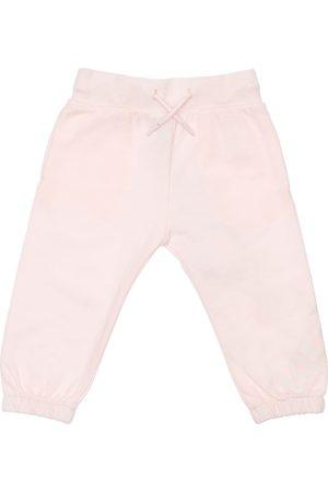 Kenzo Girls Sweatpants - Logo Print Organic Cotton Sweatpants