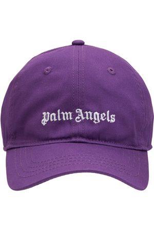 Palm Angels Girls Hats - Logo Cotton Gabardine Baseball Hat