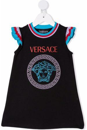 VERSACE Medusa logo-print dress