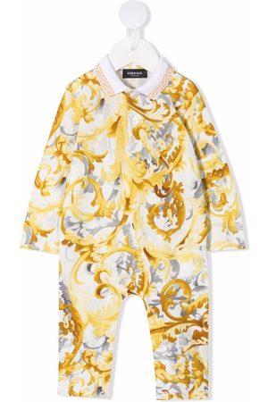 VERSACE Baby Rompers - Baroque-print cotton romper