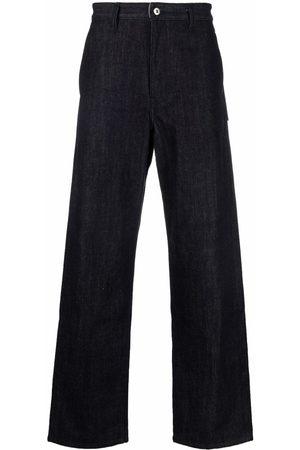 Jil Sander Men Straight - Logo-patch straight-leg jeans