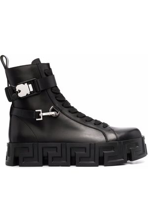 VERSACE Men Ankle Boots - Greca-sole ankle boots