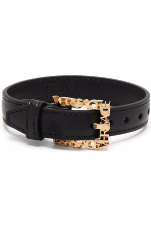 VERSACE Logo-buckle belt bracelet
