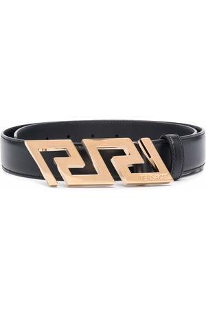 VERSACE Men Belts - Greca Key engraved buckle belt