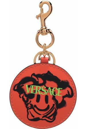 VERSACE Logo print keyring