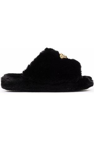 VERSACE Slippers - Medusa-plaque open-toe slippers