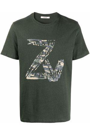 Zadig & Voltaire Men Short Sleeve - Logo-print short-sleeved T-shirt