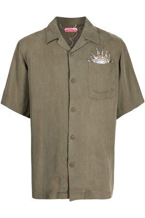 Maharishi Men Short sleeves - Embroidered short-sleeve shirt