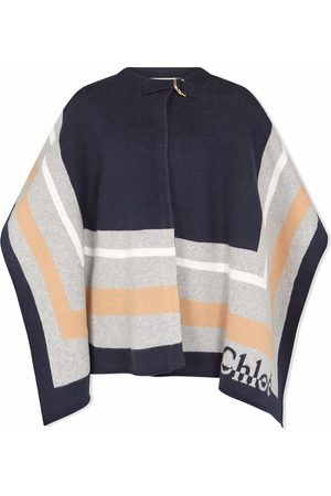 Chloé Girls Ponchos & Capes - Knitted cotton-blend cape