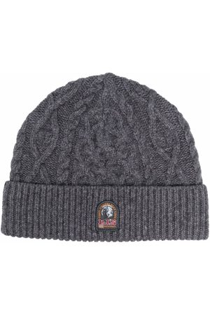 Parajumpers Logo-patch ribbed beanie - Grey