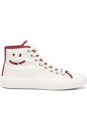 Paul Smith Women Sneakers - Embroidered logo hi-top sneakers - Neutrals