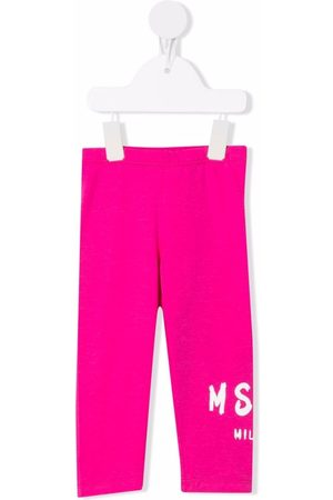 Msgm Baby Leggings - Logo-print cotton leggings