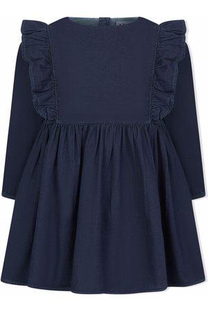 Molo Baby Casual Dresses - Chocho ruffled denim dress