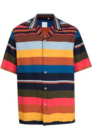 Paul Smith Men Short sleeves - Artist-stripe short-sleeved shirt - Multicolour