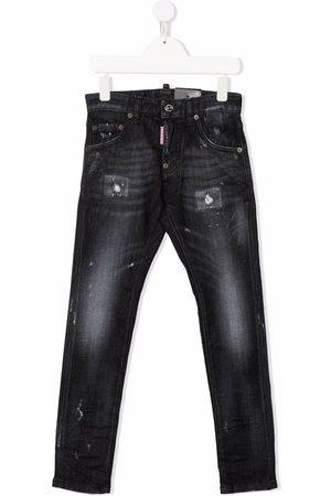 Dsquared2 Boys Slim - Distressed-finish slim-fit jeans