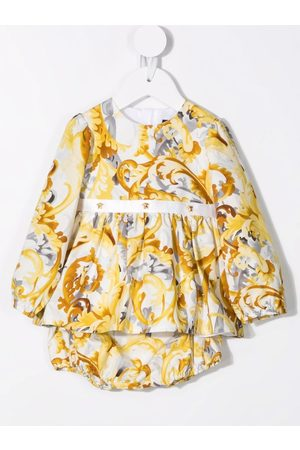 VERSACE Baby Printed Dresses - Baroccoflage-print dress and bloomers