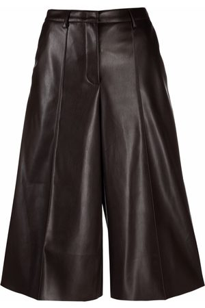 BLANCA High-waisted faux leather culottes