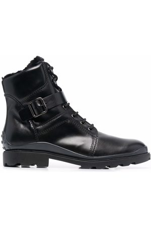 Tod's Men Ankle Boots - Buckled leather ankle boots