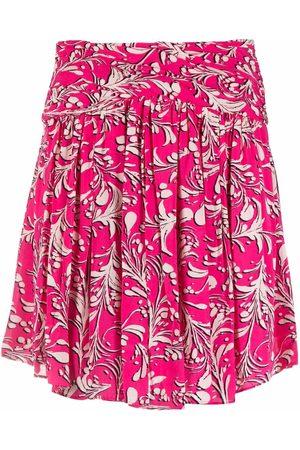 Isabel Marant Calista botanical-print skirt