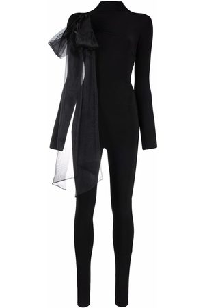 Atu Body Couture Oversized ribbon detail jumpsuit