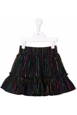 Stella McCartney Kids Girls Skirts - Rainbow lurex striped skirt