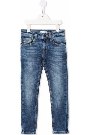 Calvin Klein Boys Skinny - Mid-rise vintage wash skinny jeans