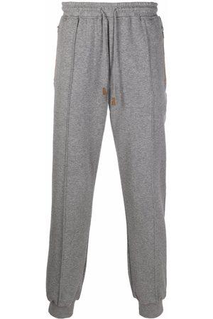 ELEVENTY Men Sweatpants - Cotton-blend zip-pockets track trousers - Grey