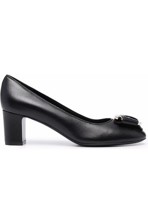 Salvatore Ferragamo Women Heels - Plaque-detail pumps