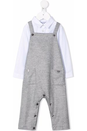 Emporio Armani Bodysuits & All-In-Ones - Shirted babygrow dungaree set - Grey