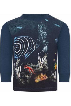 Molo Eloy fish-print cotton top