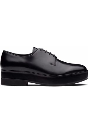 Prada Men Formal Shoes - Lace-up leather derby shoes