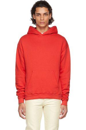 Seekings Men Hoodies - Red Cotton Fleece Hoodie