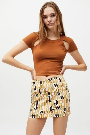 Motel Women Printed Skirts - Ima Printed Pelmet Mini Skirt