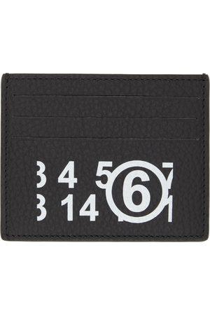 MM6 MAISON MARGIELA Women Wallets - Black Logo Card Holder