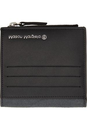 MM6 MAISON MARGIELA Women Wallets - Black Leather Inside Out Wallet