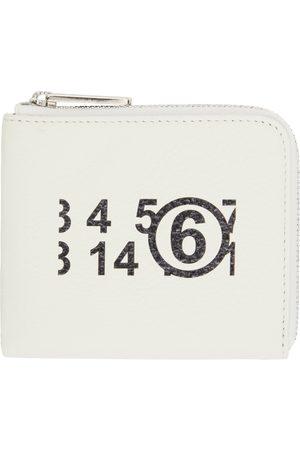 MM6 MAISON MARGIELA Women Wallets - White Small Logo Zip Around Wallet