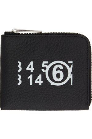MM6 MAISON MARGIELA Women Wallets - Black Small Logo Zip Around Wallet