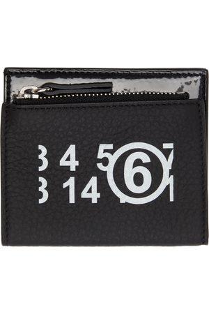MM6 MAISON MARGIELA Women Wallets - Black Logo Trifold Wallet