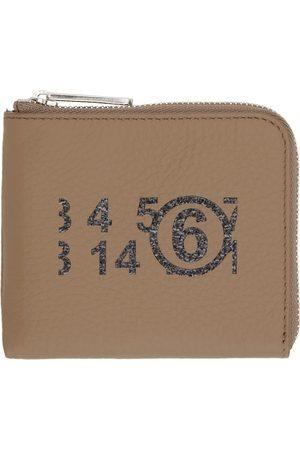 MM6 MAISON MARGIELA Brown Small Logo Zip Around Wallet