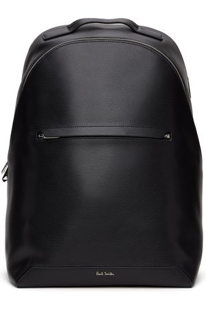 Paul Smith Men Luggage - Black Embossed Leather Backpack
