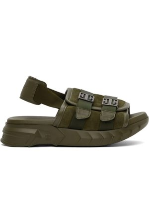 Givenchy Men Sandals - Green Marshallow Bridle Sandals