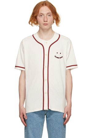Paul Smith Men Short sleeves - Off-White Baseball Happy Short Sleeve Shirt