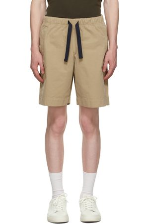 Paul Smith Men Shorts - Beige Elasticized Waist Shorts