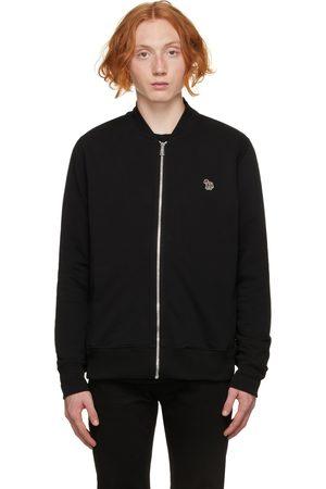 Paul Smith Men Bomber Jackets - Black Zebra Logo Bomber Jacket