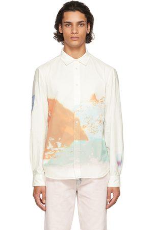 McQ Men Shirts - White Nylon Ripstop Shirt