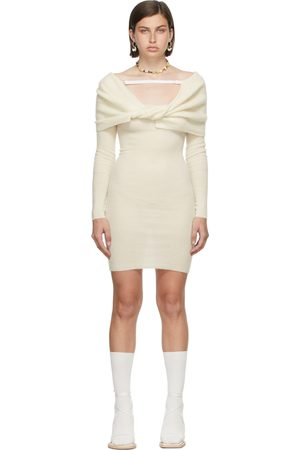 Jacquemus Women Bathrobes - Off-White La Montagne 'La Robe Ascua' Dress
